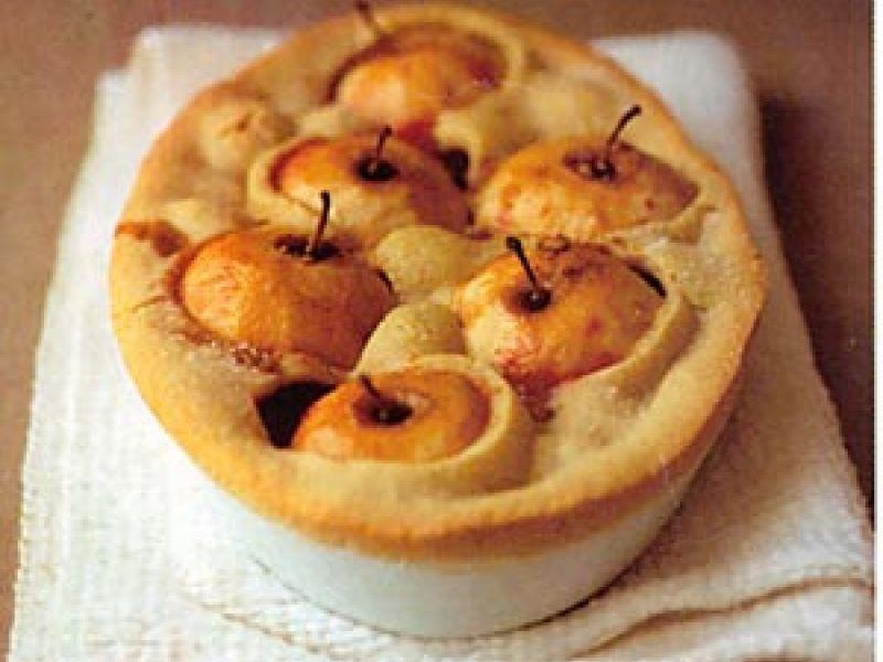 Taart met appels en bramen