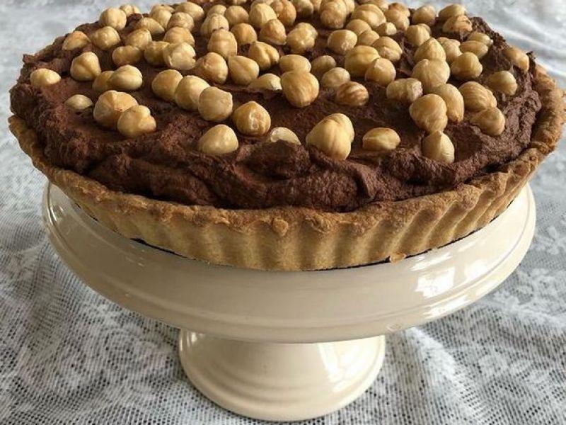 Chocolade-hazelnootaart