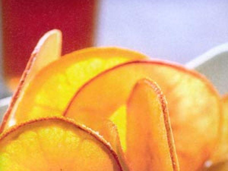 Chips van appel en sinaasappel