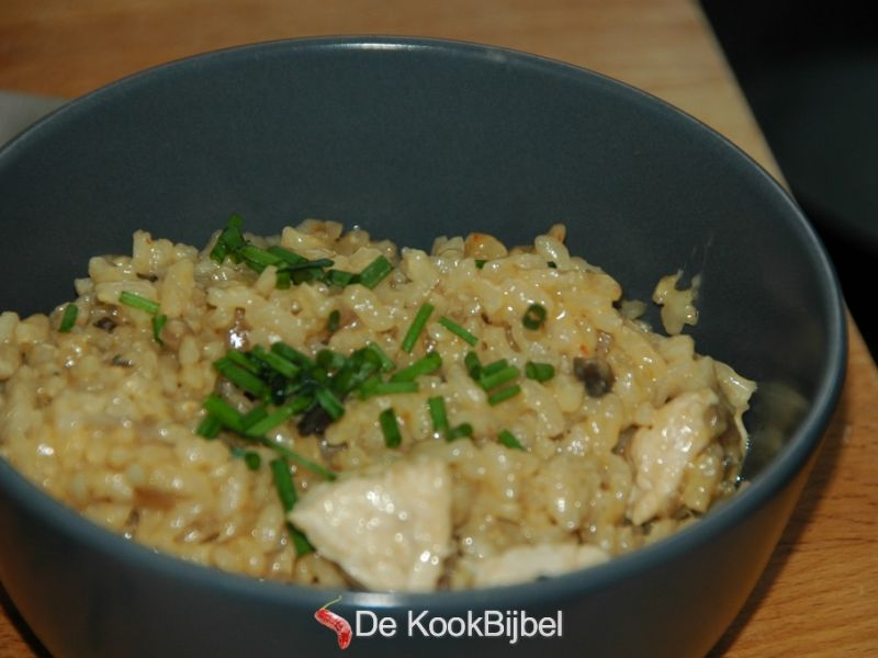 Thai risotto with chicken