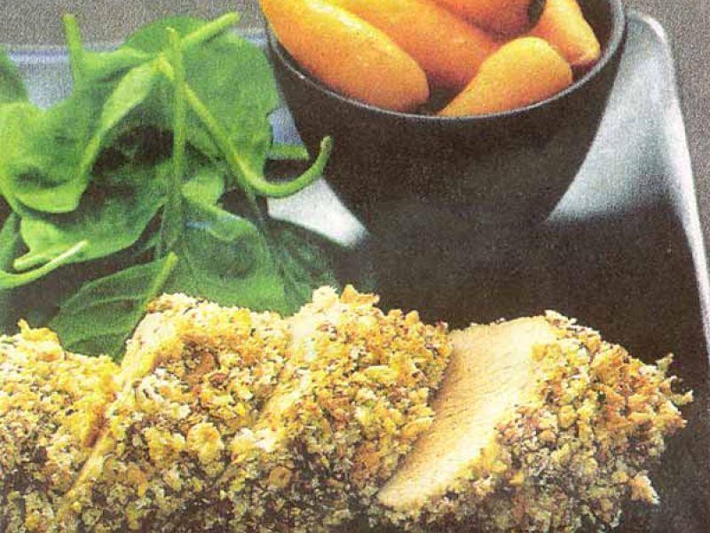Lamsfilet met peper en pistachenoten