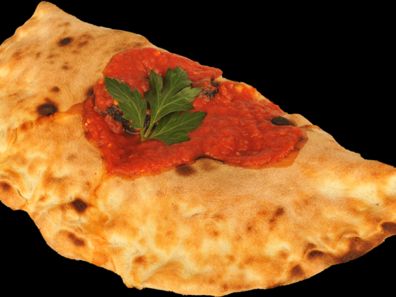 Pizza Calzone with Italian vegetables