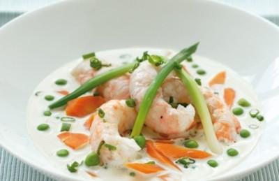 Ijskoud soepje van langoustines
