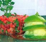 Gemarineerde aardbeien met limoensorbet