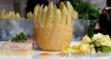 Aspergetaartje, asperges met eikruim en aspergebavarois