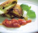 Gebakken aubergine met mozzarella