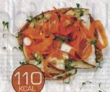 Boterham kippenwit en wortel