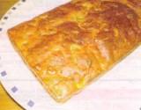 Cake met gerookte ham en olijven