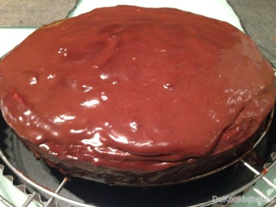 Cake met chocoladekoko ganache