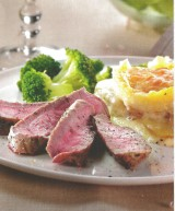 Chateaubriand met broccoli en gratin dauphinois