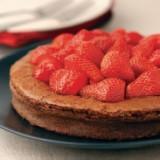 Chocoladetaart Côte d'Or met aardbeien