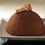 Bolvorminge ijstaart met chocolade