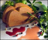 Foie gras met camparisaus