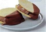 Ijssandwich vanille, chocolade