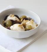 Geroosterd Vlaams-Brabantse druiven met ijs en suikernootjes