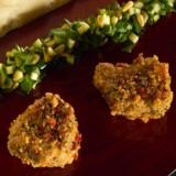 Kroketjes van kalfszwezerik met pesto van courgette