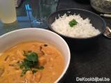 Kip met currysaus, shitake