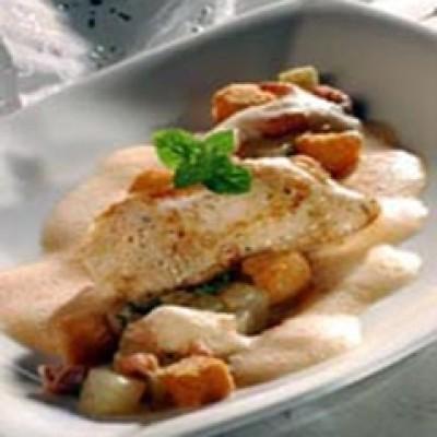 Kip met garnalenbisque