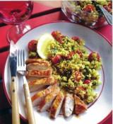 Gebakken kip en salade van Quinoa