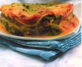 Lasagne met spinazie en cottage cheese