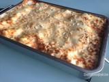 Lasagne met ricotta en prosciutto di Parma