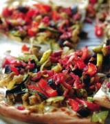 Flammeküche met zuiderse groenten