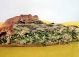 Quiche met spinazie, ricotta en gerookte zalm