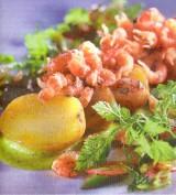 Garnaal en aardappel met frisse salade
