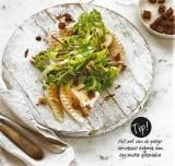 Salade met gegrilde peren en hervekaas