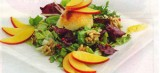 Salade met geitenkaas en nectarines