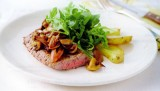 Steak met champignons en balsamico