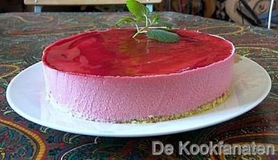 Frambozenmousse taart