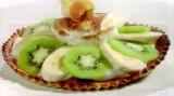 Fruittaartje met kiwi en banaan