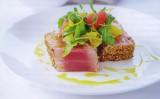 Gegrilde tonijn met citrusvruchten