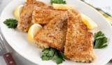 Gebakken vis met prei-puree