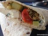 Wrap veggie met plattekaas